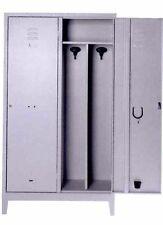 Armadio spogliatoio sporco pulito metallo 2 posti misura 80x40x180 con serratura
