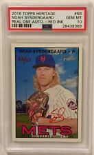 2016 TOPPS HERITAGE NOAH SYNDERGAARD REAL ONE AUTOGRAPH-RED INK PSA 10. 53/67.