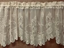 Lace Window Valance Ivory Versaille 60 x 21 Bedroom Livingroom Diningroom