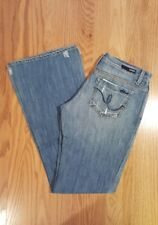 Women's Sacred Blue Jeans ~ Low Rise Flare ~ Size 28 ~ Made USA