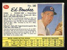1962 CANADIAN POST CEREAL BASEBALL CARD~#182~ED BOUCHEE~SHORT PRINT SP