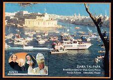 Malta 2001 Visit of Pope John Paul II Miniature Sheet SG 1211 Unmounted Mint