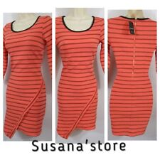 NWT BEBE 3/4 SLEEVE SHANNON striped WRAP DRESS SIZE XS . MSRP$150