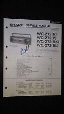 sharp wq-272 bk Service Manual Original Repair book boombox ghettoblaster tape