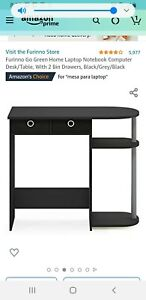 Furinno computer desk with 2 drawers