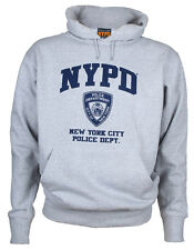 NYPD Full Chest Ash Hooded Sweatshirt Adult Small
