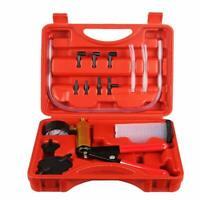 Power Steering And Brake Bleed Handheld Pump Tester Adapter Kit Mechanics Tool
