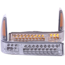 ANZO for 2000-2004 Ford Excursion LED Parking Lights Chrome w/ Amber Reflector -
