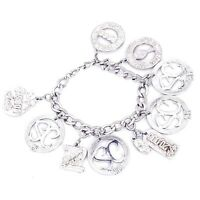 Mint Sterling Sarah Coventry Rep Anniversary Charm Bracelet 5-20 Years Rewards