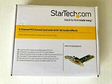 StarTech 4 Channel PCI Sound Card with AC97 3D Audio Effects PCI Slot New