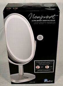 Zadro Newport Ultra Bright Adaptive 3 Color LED Vanity Mirror 5X/1X
