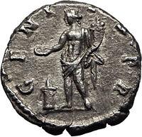 SEPTIMIUS SEVERUS 194AD Silver Authentic Ancient Roman Coin Genius Rare i59025