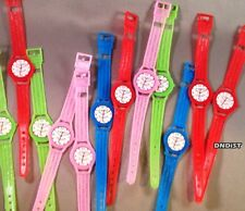 lot of 100 birthday party toy WriSt Watches plastic favor wristband giveaway new