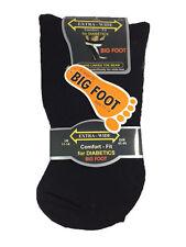 Herren bifgoot schwarz bequem extra wide Locker TOP Diabetiker Socken in 3 Paar