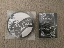 Kraken Black Spiced Rum Playing Cards AND 4 pack of coasters! NEW!