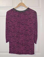 Michael Kors Blouse Women Pink Black Stripes