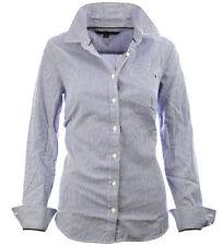 Tommy Hilfiger Damen Bluse Business Hemd Damenbluse weiß/blau gestreift  XS-XXL