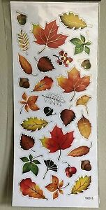 1 sheet Gold Foil Leaves Stickers Papercraft Planner Journal Fall Autumn (29pc)