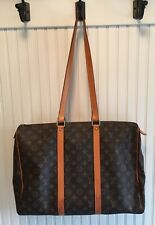 Louis Vuitton  Large Tote Bag Monogram With Long Handles Zippered Top AUTHENTIC!