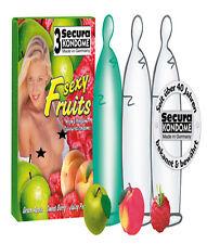3 Fruit-Mix condoms-secura Kondome-CENA SEXY EROTICO HOT sensazionale Preservativo