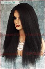 Lace LACE FRONT LONG STRAIGHT YAKI TEXTURE 1B GORGEOUS SEXY STYLE USA SELLER 184