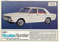 Hillman HUNTER Brochure ~ 1960s ~ UK Specs Original Sales Advertising