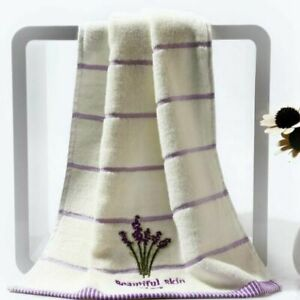 Hand Face Towel Cotton Embroidery Lavender Aromatherapy Sheet Set Soft Bath
