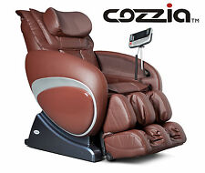 Cozzia 16027 Zero Gravity Shiatsu Massage Chair - Brown