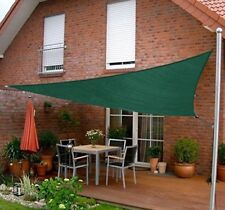 Outsunny 1ft Patio Lawn Shelter Sun Sail Shade Triangle w/ Carrying Bag Green