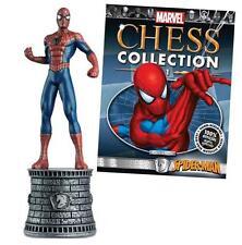 Eaglemoss Marvel Chess Piece Issue #1 Spider-Man White Knight Figure + Mag NIP