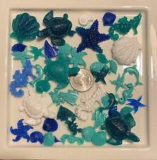 Tiny Plastic Resin Sea Creatures Craft Supplies Turtles Shells Star Fish Crab