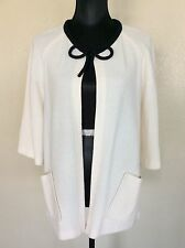 St. John Collection Cream Ivory With Black Trim Jacket Sz 6