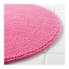 IKEA BADAREN Anti-Slip Microfibre Round Bath Mat Bathmat Bathroom Rug 55 cm Pink