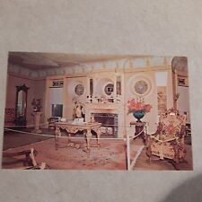 Vintage Postcard Wilson Castle, French Drawing Room, Rutland, Vermont