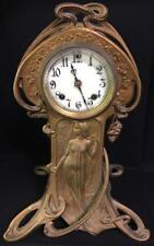 New Haven Clock Co. Art Nouveau Figural Clock Lot 3027