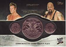2014 WWE Topps Big Show Chris Jericho Tag Team Championship belt plate near mint