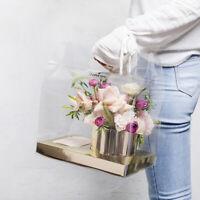 Weihnachten PVC Klar Tragbare Geschenkbox Blumenverpackung Xmas Hochzeit Party