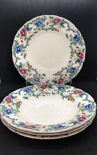 """More details for royal cauldon england """"victoria"""" 9.5"""" bowl soup pasta x4"""