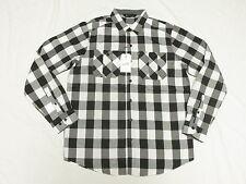$48 NWT NEW Mens Rocawear Button Down Shirt Check Plaid Roll Up Woven Sz XL N219
