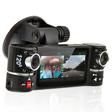 "NEW! 2.7"" TFT LCD DashCam Dual Camera Rotated Lens Car DVR Recorder AKA BlackBox"