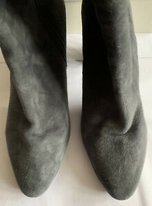 LK Bennett Suede Sirena Smoke Grey Boots UK 7 40 RRP £375 99p!!