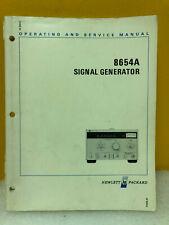 Hp / Agilent 08654-90028 Hp 8654A Signal Generator Operating and Service Manual