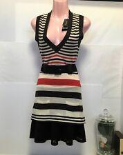 BNWT Morrissey Wool striped long vest/mini/undershirt RRP $170 Small