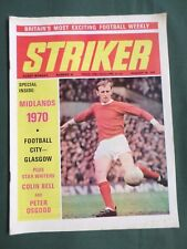 "FOOTBALL MAGAZINE -""  STRIKER  "" 29 AUG 1970  - #34 -  SHEFFIELD UNITED"