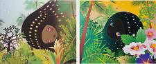 Chiho Aoshima Building Head Chameleon & Palm Tree Prints (set of 2) Kaikaikiki