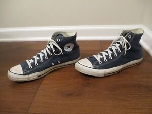 Used Sz 11.5 Fit Like 12-12.5 Converse Chuck Taylor All Star Hi Shoes Blue
