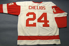 CHRIS CHELIOS CUSTOM DETROIT RED WINGS W JERSEY