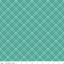 Lori Holt Fabric Calico Days Fabric Green Plaid Fabric Quilting By The 1/2 Yard
