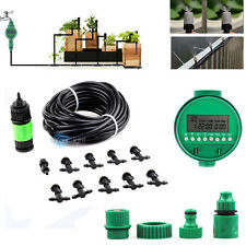 10m/33' Greenhouse Garden Patio Misting Cooling Irrigation System LCD Timer Kit