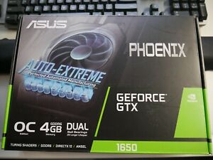 NEW never opened ASUS Phoenix GTX 1650 OC graphics card. Ships from Canada